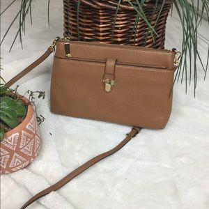 MICHAEL KORS LARGE SNAP POCKET LEATHER CROSSBODY